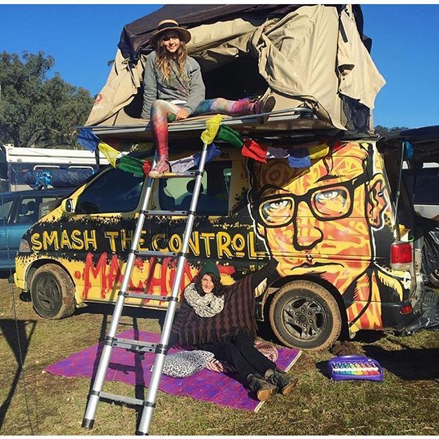 Wicked Campers Australia. Cheap campervans for hire for the tourist on a budget.