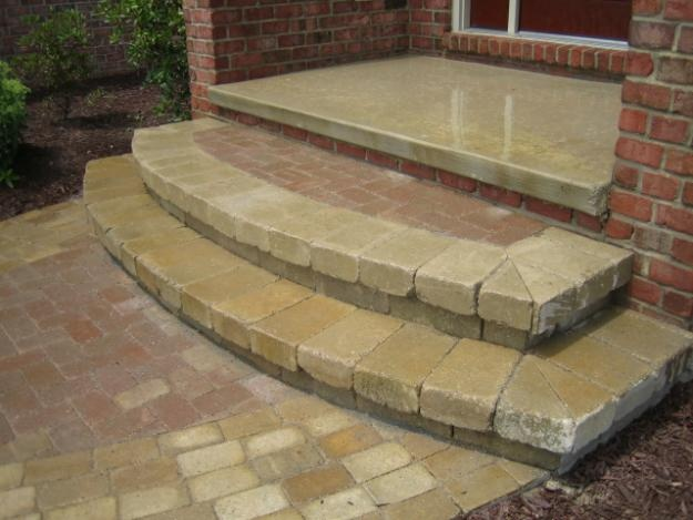 30 best images about paver steps on pinterest backyard for Brick steps design ideas