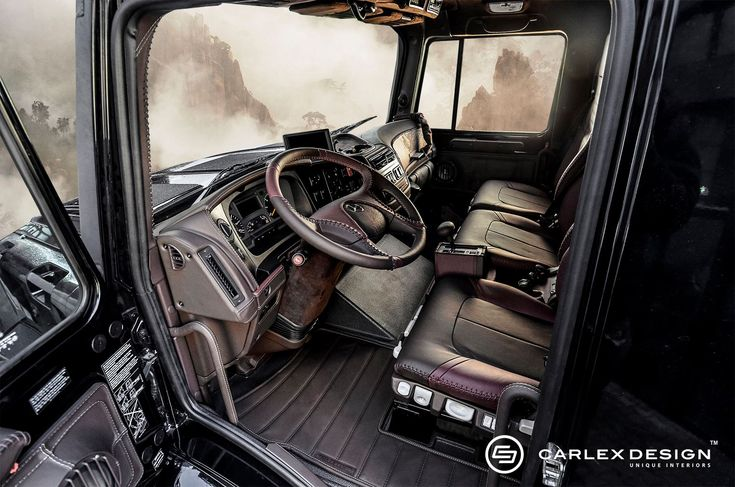Mercedes-Benz Zetros Interior | Mercedes-Benz Zetros Camper Van by Carlex is a Zombie-Proof Palace ...