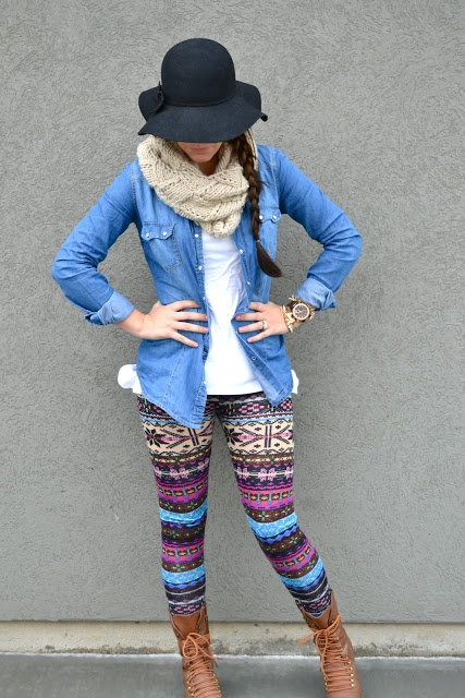 Rainy Days Outfit. Wish I could pull those leggings off