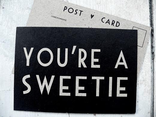 Kaart Kraft Zwart You're a Sweetie