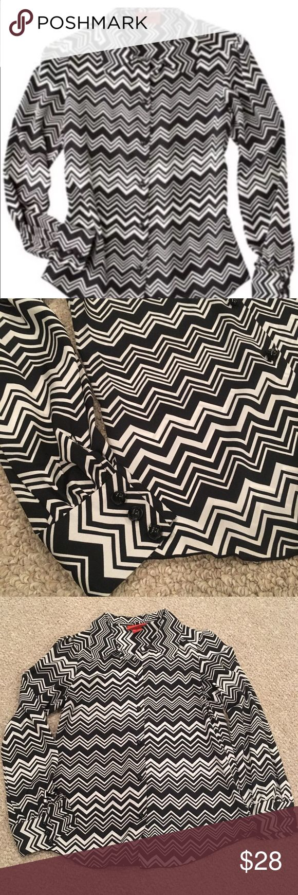 Missoni for Target Black Chevron Blouse Size XS very good condition Missoni Tops Blouses