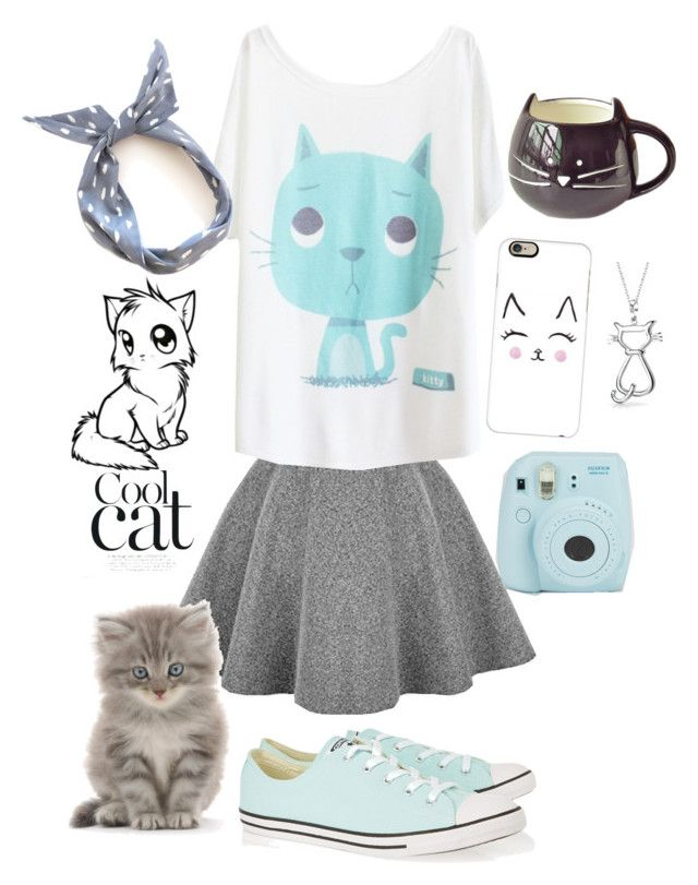 """""""Kitty Kat"""" by pegasus24 on Polyvore featuring Casetify, Converse, Bling Jewelry, women's clothing, women's fashion, women, female, woman, misses and juniors"""