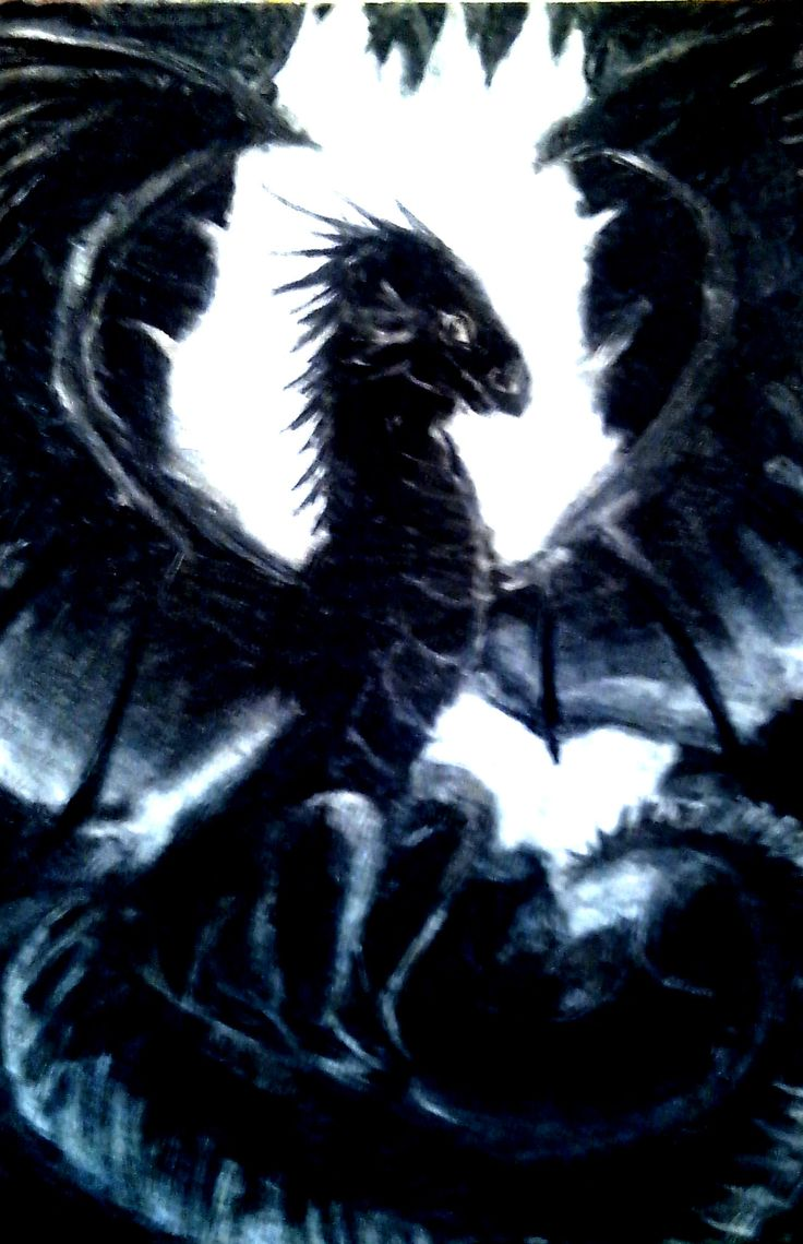 Magic blue dragon.