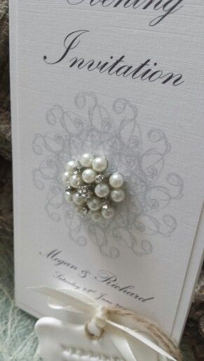 A stunning embellishment on a simple invite