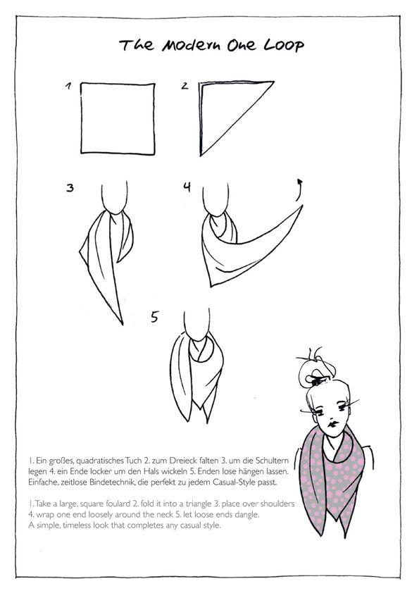 the modern one loop by codello scarves technik pinterest schal binden schals und binden. Black Bedroom Furniture Sets. Home Design Ideas