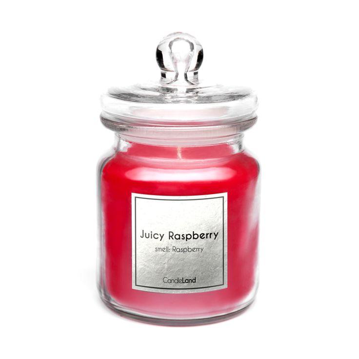 Zmysłowo-intensywny zapach malin znajdziecie w świecy JUICY RASPBERRY. #candle #relaks https://candleland.pl/pl/home/22-swieca-zapachowa-juicy-raspberry.html