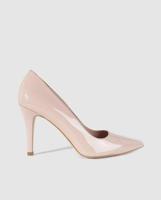 Zapatos de salón de mujer de Lodi de piel en color beige