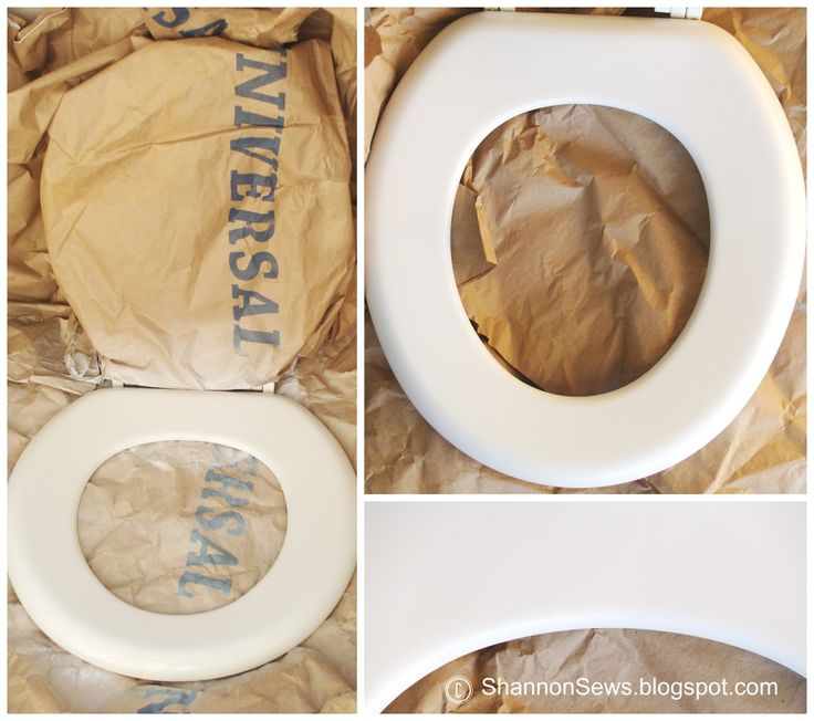 DIY toilet seat makeover / update / improvement with spray paint to look new again © ShannonSews.blogspot.com