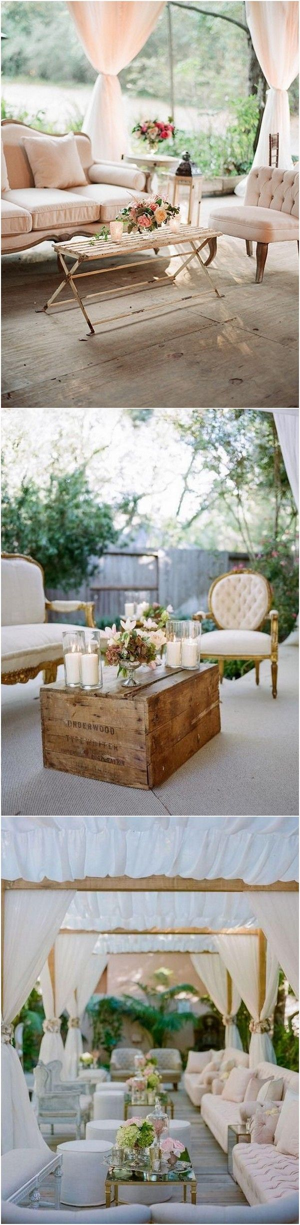 Vintage Wedding Reception Lounge Area Ideas #wedding #weddingideas #weddingdecor
