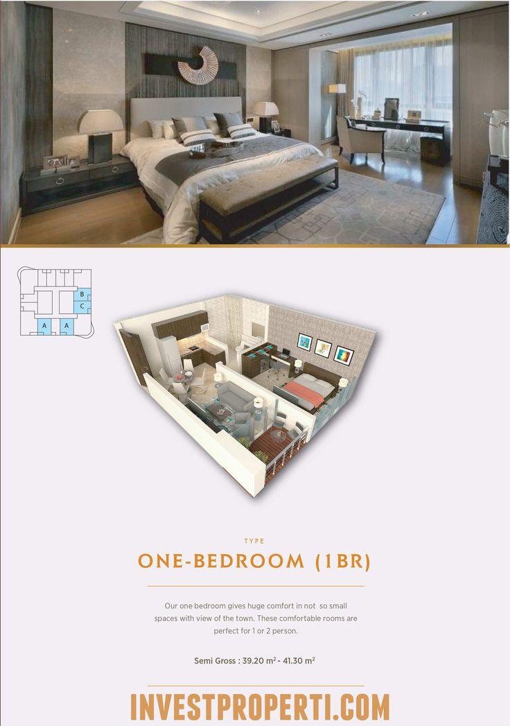 Tipe 1BR Apartemen The Noble Alam Sutera