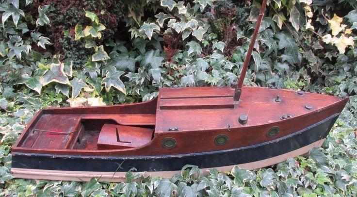 Bing Bassett Lowke 1933 Broads Cruiser boat Winteringham motor 25 inch by 6 inch    eBay