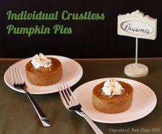 Individual Crustless Pumpkin Pies (aka Pumpkin Custards) | cupcakesandkalechips.com | #pumpkin #glutenfree #pumpkinpie