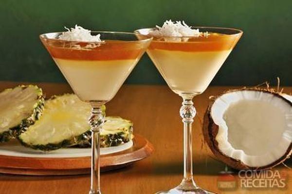 Receita de Pudim de coco com abacaxi - Comida e Receitas