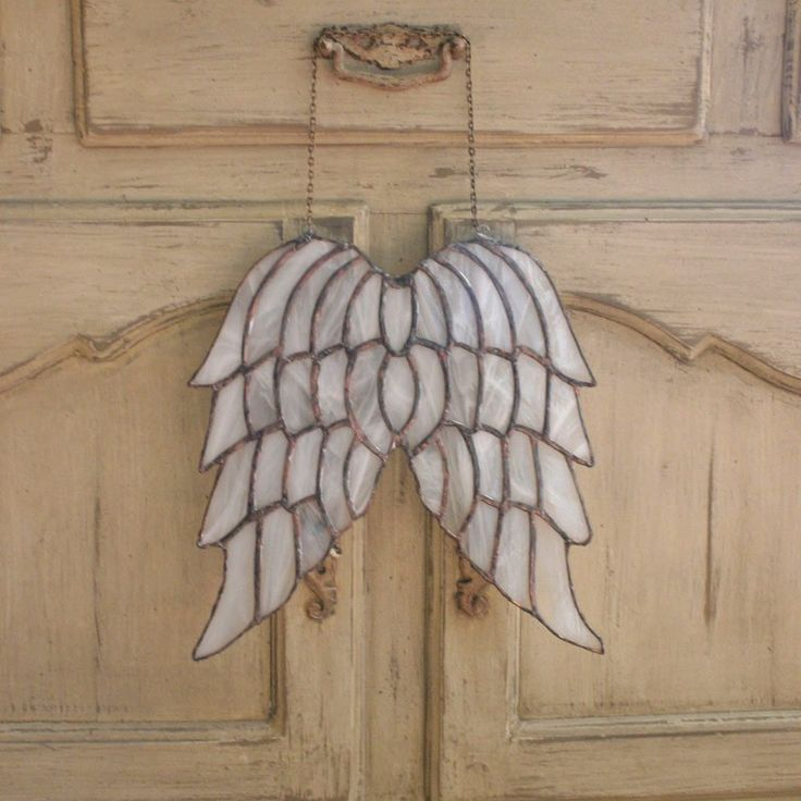 ❥ Stained Glass Angel Wings Decorative Window Hanging - Venetian Angel