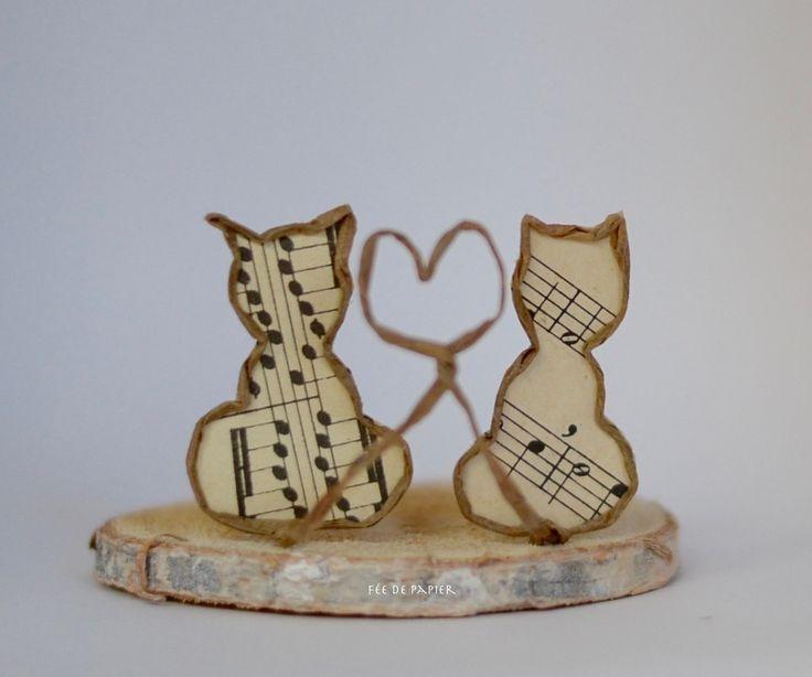 Fée de papier - Chats amoureux ou amoureux des chats ? - Technique by epistyle.blogspot.fr