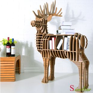 Deer puzzle table,Animal Multi-Purpose Furniture,creative animal furniture,DIY deer table,animal bookcase,animal table,stag rack