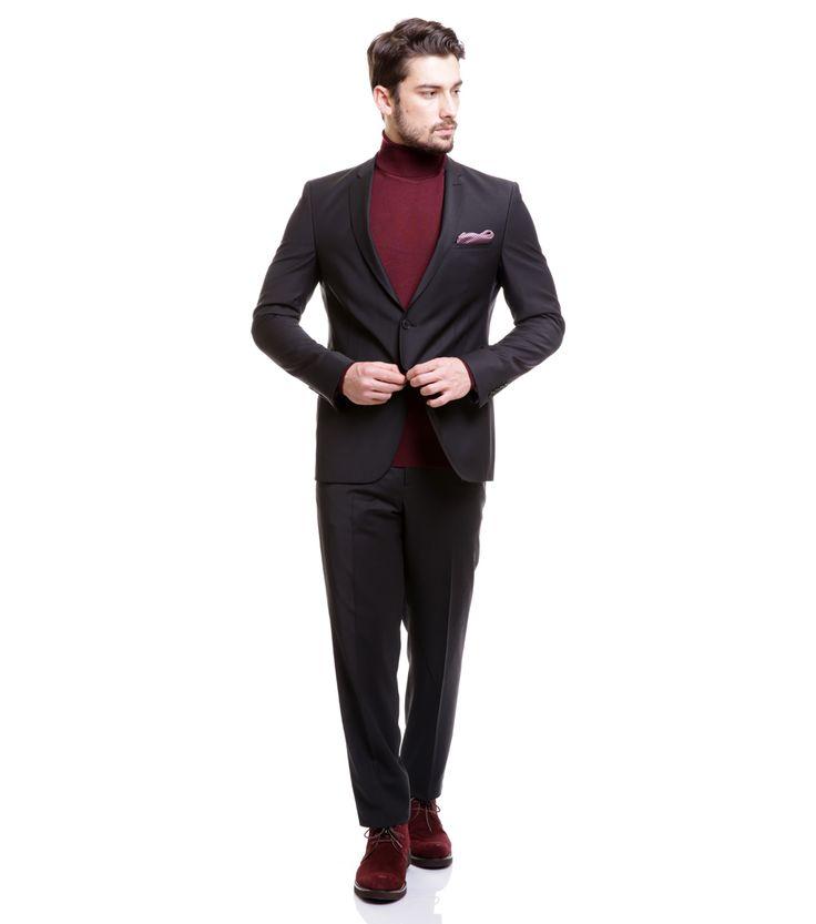 Toss Erkek 6 Drop Klasik Takım Elbise - Siyah