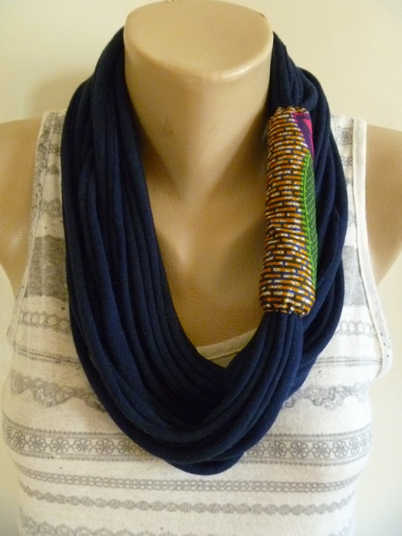 <3 this fabric necklace
