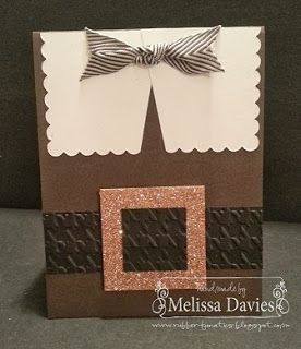 Stampin' Up! Thanksgiving Card by Melissa D: Pilgrim - I can also see this for Santa!