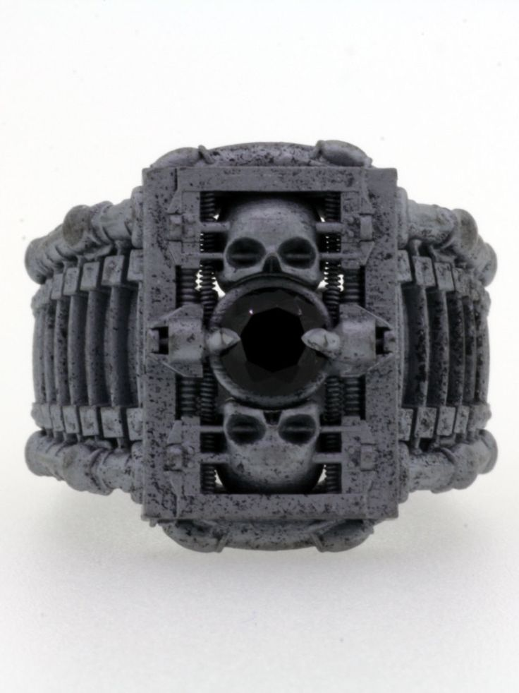 Giger H.R. Giger's ring Skull ring Brain Salad Surgery (239.00 USD) by AddingtonKarpathia