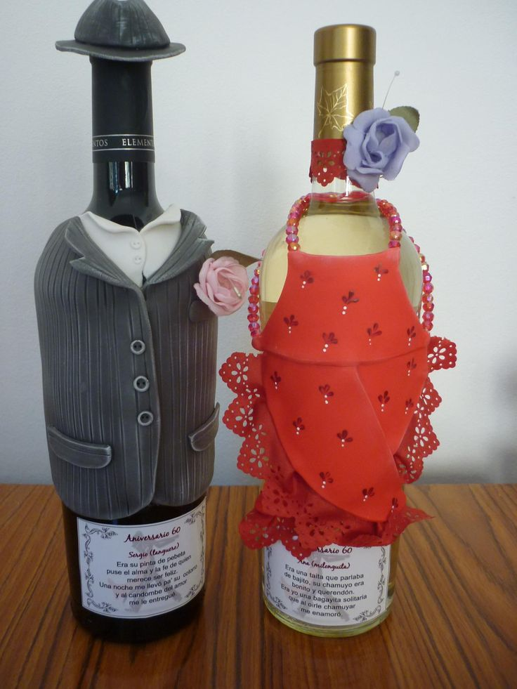 EN PORCELANICRON, DIVINO / Bottle covers made of coldPorcelain