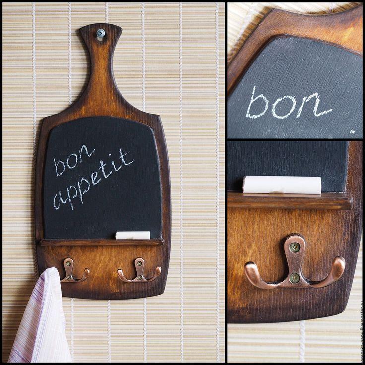 Купить Грифельная доска-вешалка для кухни меловая доска для записей - грифельная доска, доска для кухни