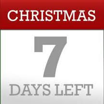 Only 7 days till Christmas!  Re-pin this if you're excited :) We are!