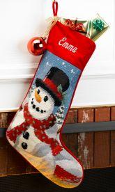 Needlepoint Christmas Stockings Personalized | MerryStockings
