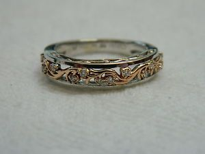 Clogau 9t White Rose Welsh Gold Diamond Cecilia Wedding Ring RRP GBP66000size N