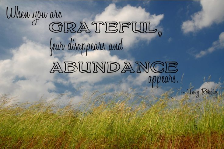 Fear Disappears When You Are Grateful