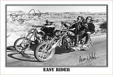 * EASY RIDER * HOPPER, FONDA, NICHOLSON SIGNED AUTOGRAPH POSTER PHOTO PRINT.
