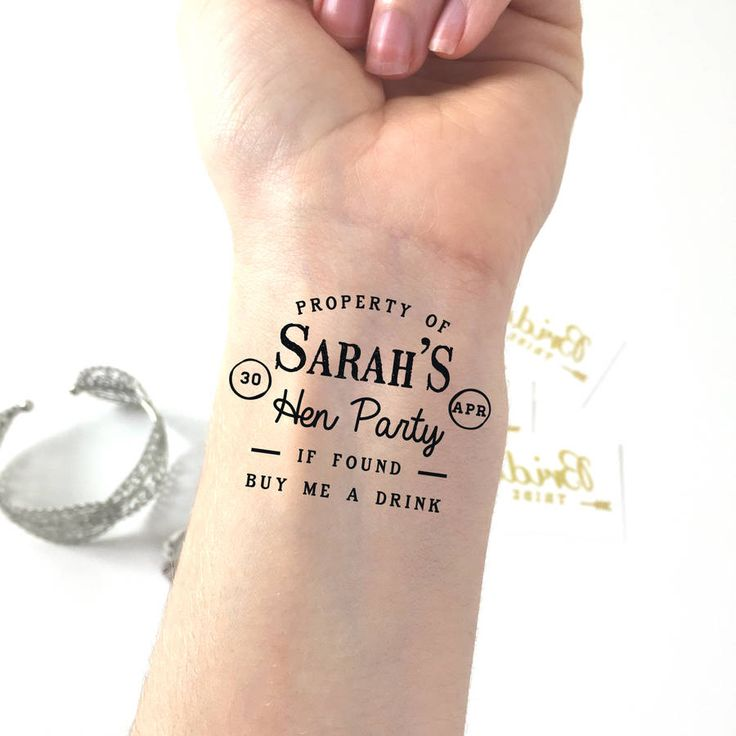 'Buy Me A Drink' Hen Party Temporary Tattoo