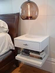 Image result for unusual floating bedside table