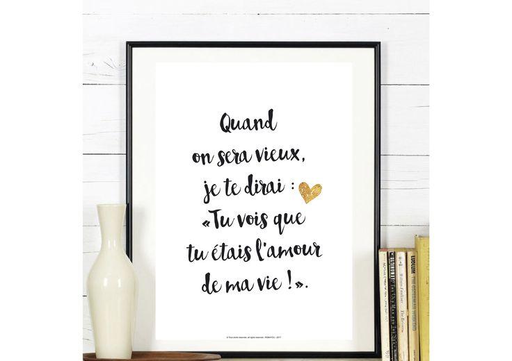 Affichez votre amour avec des mots doux.  #Affiche #love #citation  par affiche-rgb4you