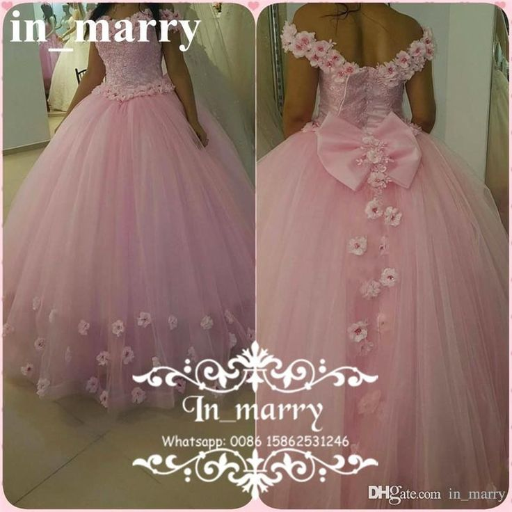 Princess Pink 3D Floral Quinceanera Dresses 2017 Ball Gown Off Shoulder Vestidos De 15 Anos Sweet 16 Debutante Birthday Tulle Prom Gowns 2017 Quinceanera Dresses Ball Gown Quinceanera Dresses Crystal Prom Dresses Online with $269.72/Piece on In_marry's Store   DHgate.com