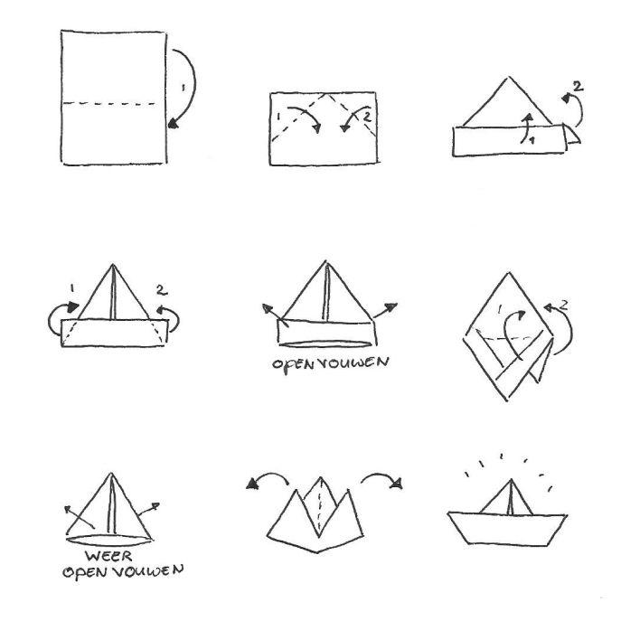 Een bootje van papier, niet moeilijk en een goed middel tegen de verveling! Of vroeger toch zeker... #knutselen