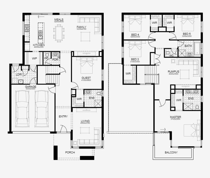 Simonds Homes Hann 35 New Living Image1 House Design House Plans House Floor Plans