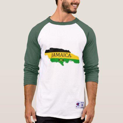 #name - #Jamaica's Map Designer Name-Brand T-Shirt