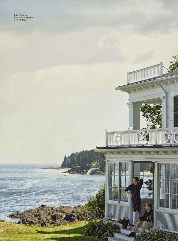 Hilary Rhoda and Teddy Sears in Maine via Vogue.   #maine #summer