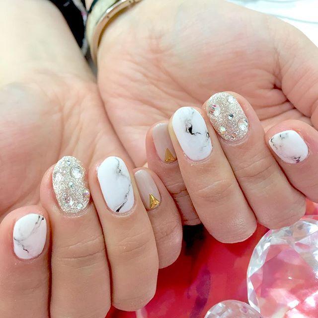 21 best Stone nails images on Pinterest | Fingernail designs, Nail ...