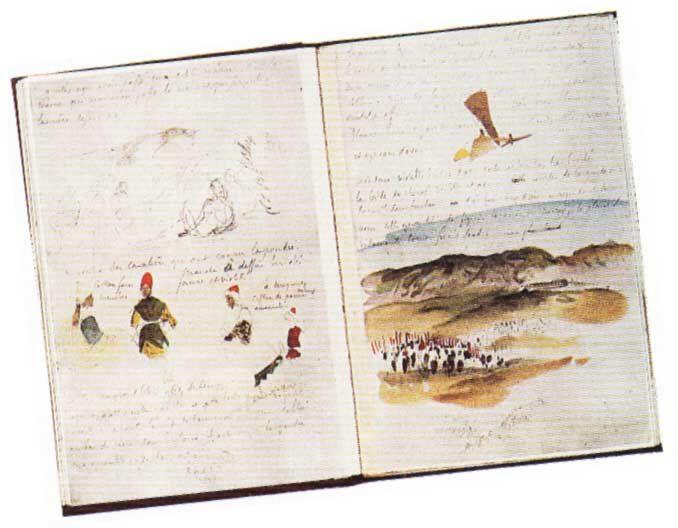 Carnet de Voyage à Maroc - Eugène Delacroix 1832