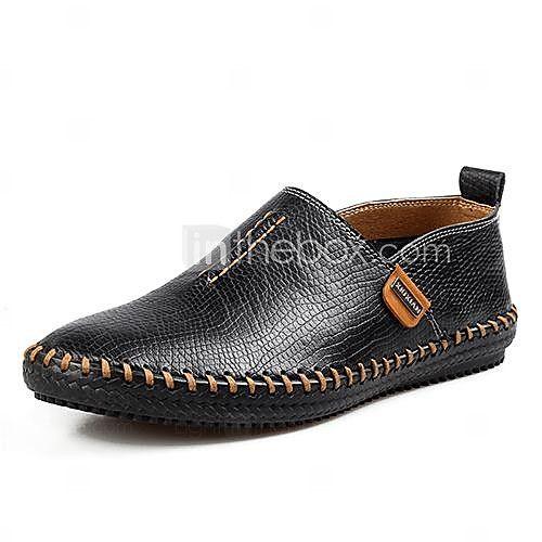 leren heren platte hak troost loafers schoenen (meer kleuren) - USD $24.89