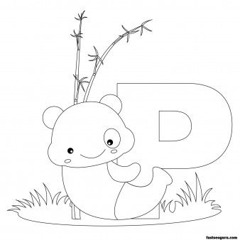 Printable Animal Alphabet worksheets Letter P for Panda - Printable Coloring Pages For Kids