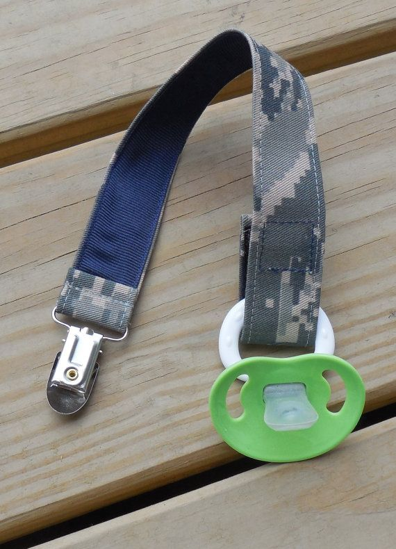 Air Force Baby Pacifier Holder US Air Force ABU by GabbysQuilts