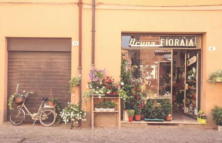 Imola Italy travel old signs flowers shop blogger