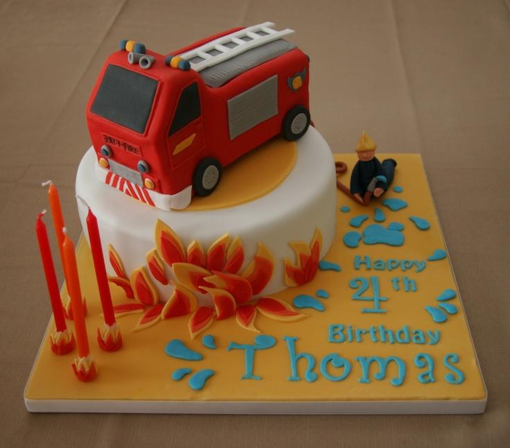 Best Torte Fireman Sam Images On Pinterest Firefighter Cakes - Car engine birthday cake