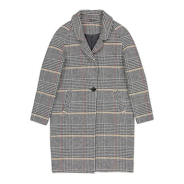 ac1176b3898 Checked Boyfriend Coat