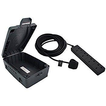 Masterplug Weatherproof Box with 4 Socket 10 m Extension Lead