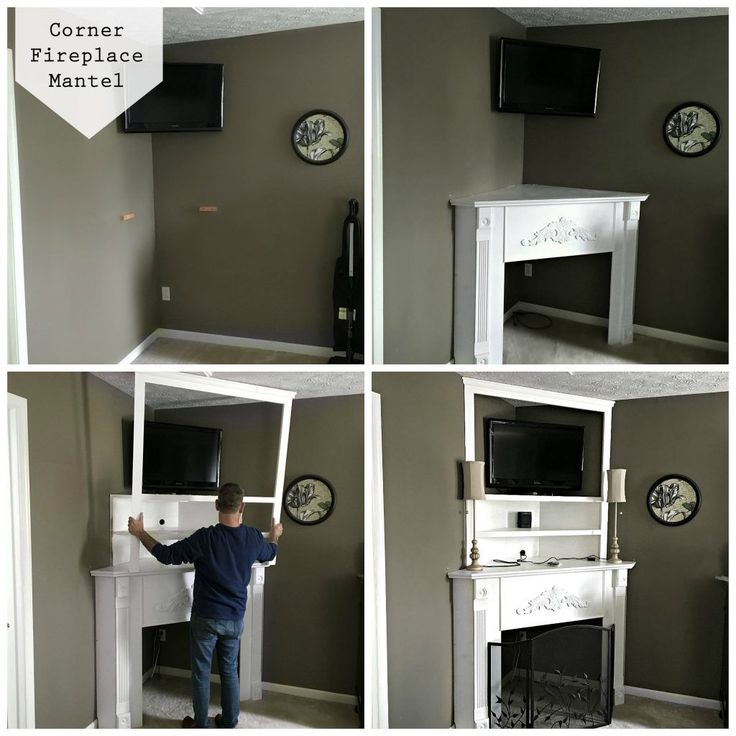 Installing a Corner Fireplace Mantel -  makes a dead corner in a room useful and beautiful. By SnazzyLittleThings.com